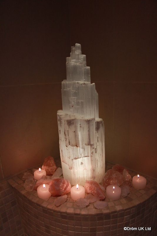 Selenite and Rose Quartz