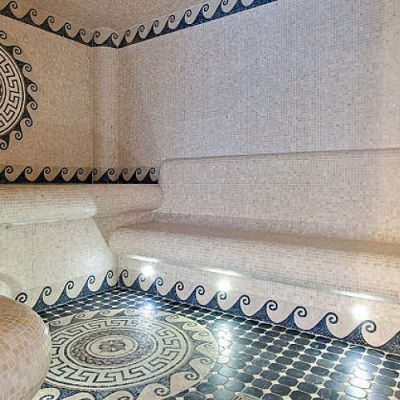 Tiled Opulence in Poolside Hammam